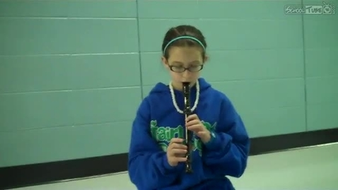 Thumbnail for entry Marissa Staley, recorder solo, Dabbs Elementary, 2011