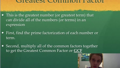 Thumbnail for entry Greatest Common Factor