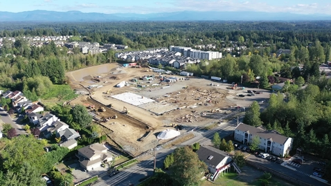 Thumbnail for entry Lea Hill Elementary Drone Footage Site Progress September 2021