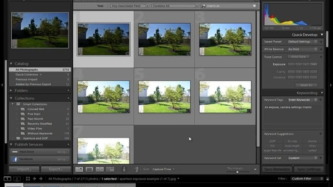 Thumbnail for entry Aperture and Exposure