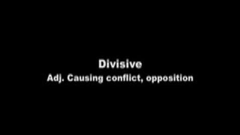 Thumbnail for entry divisive--Brainy Flix vocab contest