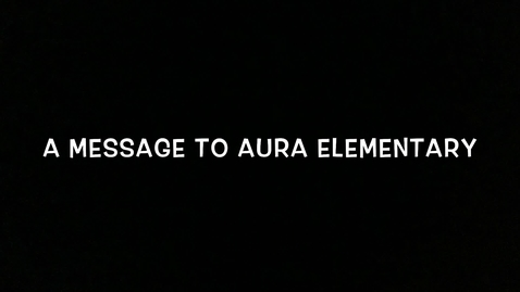 Thumbnail for entry Hello Aura
