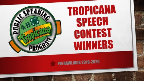 Thumbnail for entry Tropicana Speech Winners 2020