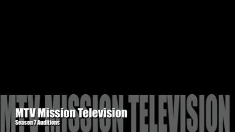 Thumbnail for entry MTV Season 7 Auditions