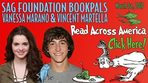 Thumbnail for entry Read Across America with Vanessa Marano and Vincent Martella