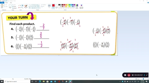 Thumbnail for entry 7th Grade Lesson 3-4 Multiplying Rational Numbers Review of Guided Practice