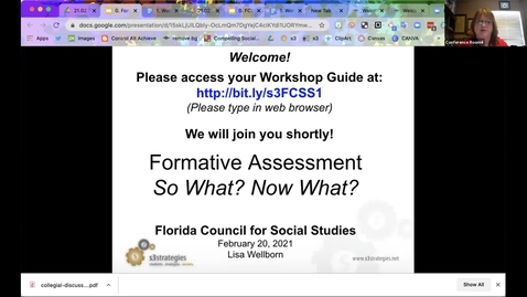 Thumbnail for entry FCSS Spring Virtual Conference Session: Formative Assessment – So What?  Now What?