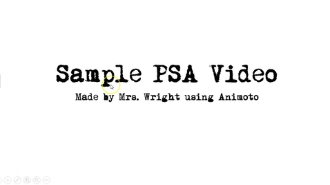 Thumbnail for entry How to Build a PSA Video in Animoto