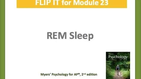 Thumbnail for entry REM Sleep