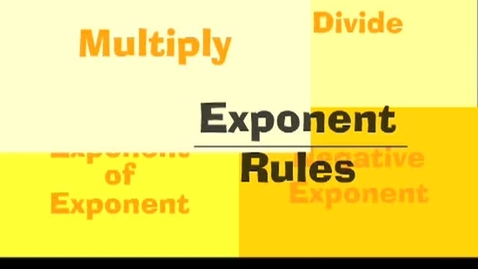 Thumbnail for entry Exponent Rules Math Learning Upgrade