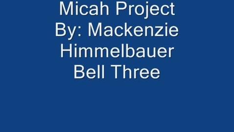 Thumbnail for entry Micah