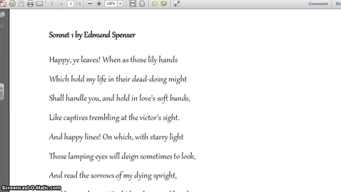 Thumbnail for entry Sonnet Explanation