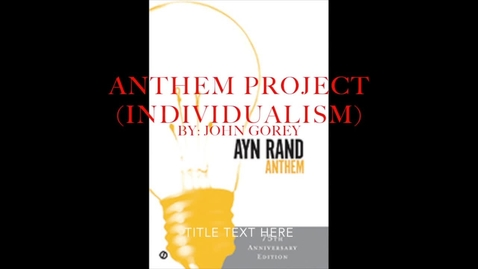 Thumbnail for entry Gorey Anthem iMovie