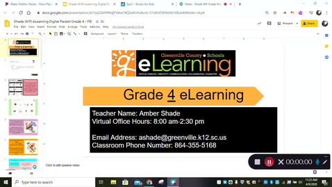 Thumbnail for entry Student eLearning Directions 4/9