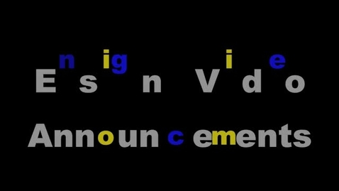 Thumbnail for entry Ensign Video Announcements for November 17th-21st