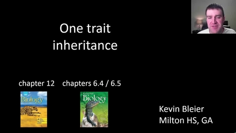 Thumbnail for entry One trait inheritance practice