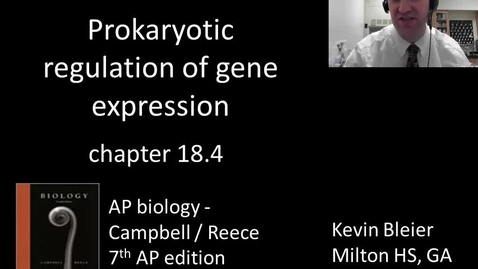 Thumbnail for entry Prokaryotic regulation of gene expression