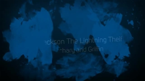 Thumbnail for entry The Lightning Thief Book Trailer