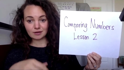 Thumbnail for entry Comparing Numbers Lesson 2
