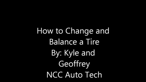 Thumbnail for entry Tire  mounting and balancing