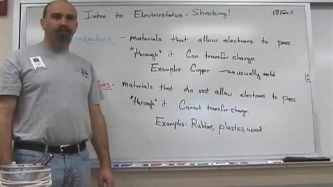 Thumbnail for entry Intro to Electrostatics