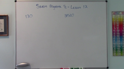 Thumbnail for entry Saxon Algebra 1/2 - Lesson 12 - Products of Prime Numbers