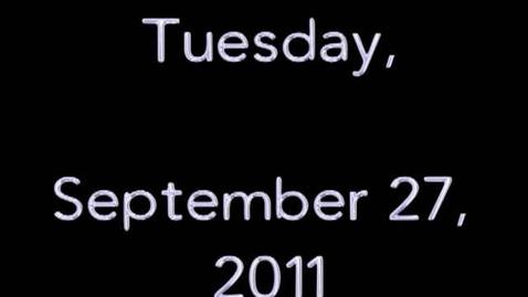 Thumbnail for entry Tuesday, September 27, 2011