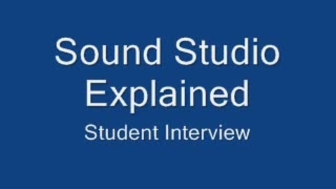 Thumbnail for entry Sound studio explained