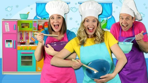 Thumbnail for entry Cooking in the Kitchen - Kids Song - Pretend Play Cooking with Fun Food for Kids