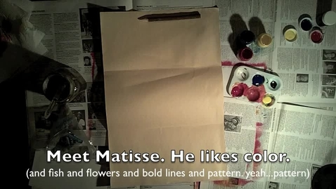 Thumbnail for entry Matisse Still Life: Coloring Mixing with Tempera and Pastels