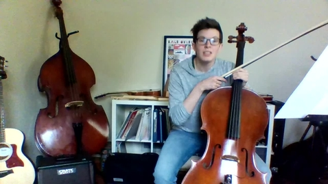 Thumbnail for entry Week 2: 4th/5th Grade Cello/Bass Lesson (Pepperoni Pizza Rock)