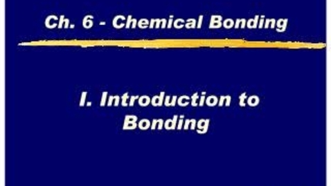 Thumbnail for entry Chemistry Chapter 6.1