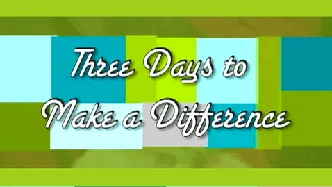 Thumbnail for entry Charities: Three Days to Make a Difference
