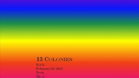 Thumbnail for entry BS 13 colonies