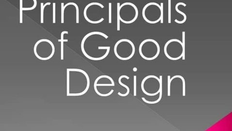 Thumbnail for entry Elements of Design