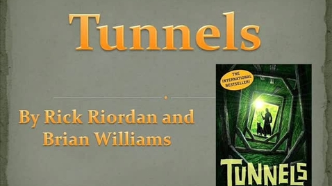 Thumbnail for entry Tunnels Book Trailer