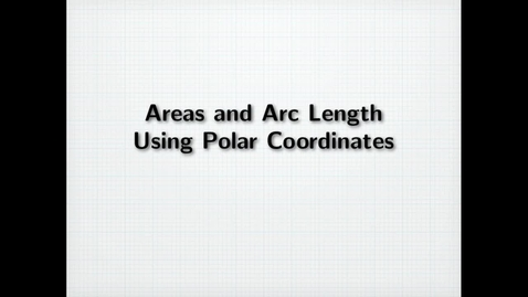 Thumbnail for entry Working with Polar Coordinates