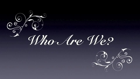 Thumbnail for entry We Are...