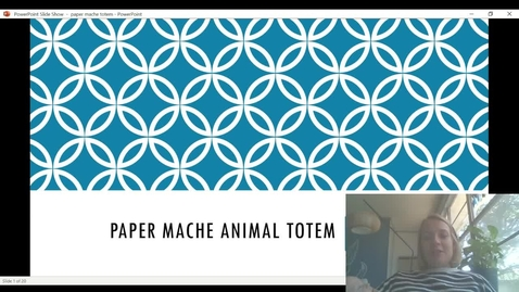 Thumbnail for entry paper mache animal totem video presentation