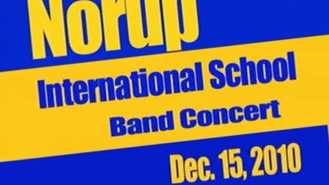 Thumbnail for entry NIS Band Concert - Dec. 2010