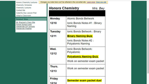 Thumbnail for entry Honors Unit 6 : Ionic Bonds Notes #1.