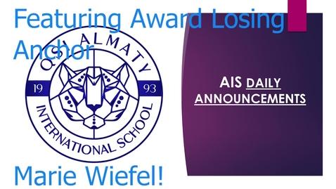Thumbnail for entry QSI AIS Announcements April 26-30