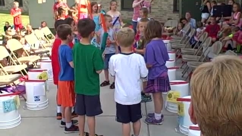 Thumbnail for entry 10:00 a.m. performance (part 2) of Bucket Drumming - Rock Ledge Summer School 20