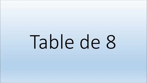Thumbnail for entry Addition Table de 8