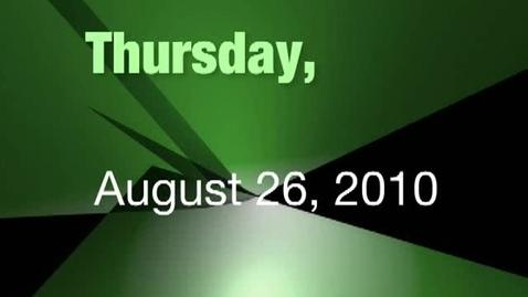 Thumbnail for entry Thursday, August 26, 2010