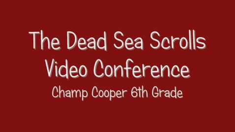 Thumbnail for entry Dead Sea Scrolls