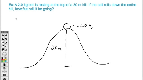 Thumbnail for entry Conservation of Energy Problem (Easy)