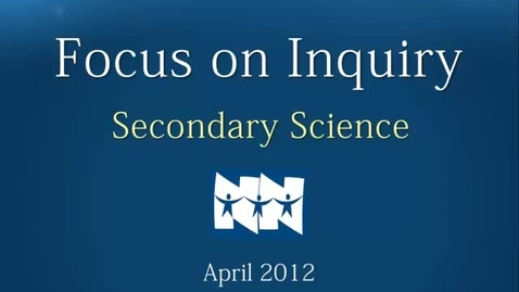 Thumbnail for entry April Inquiry Focus