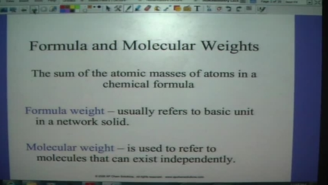Thumbnail for entry Stoichiometry 1 - Molecular & Formula Weight, Mass %