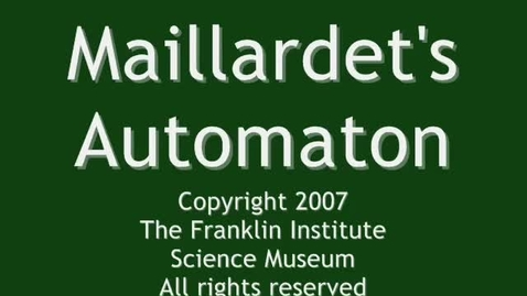 Thumbnail for entry Henri Maillardet's Automaton at The Franklin Institute Scien